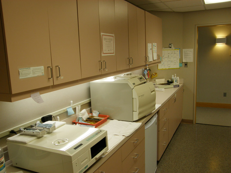 Dental office cabinetry