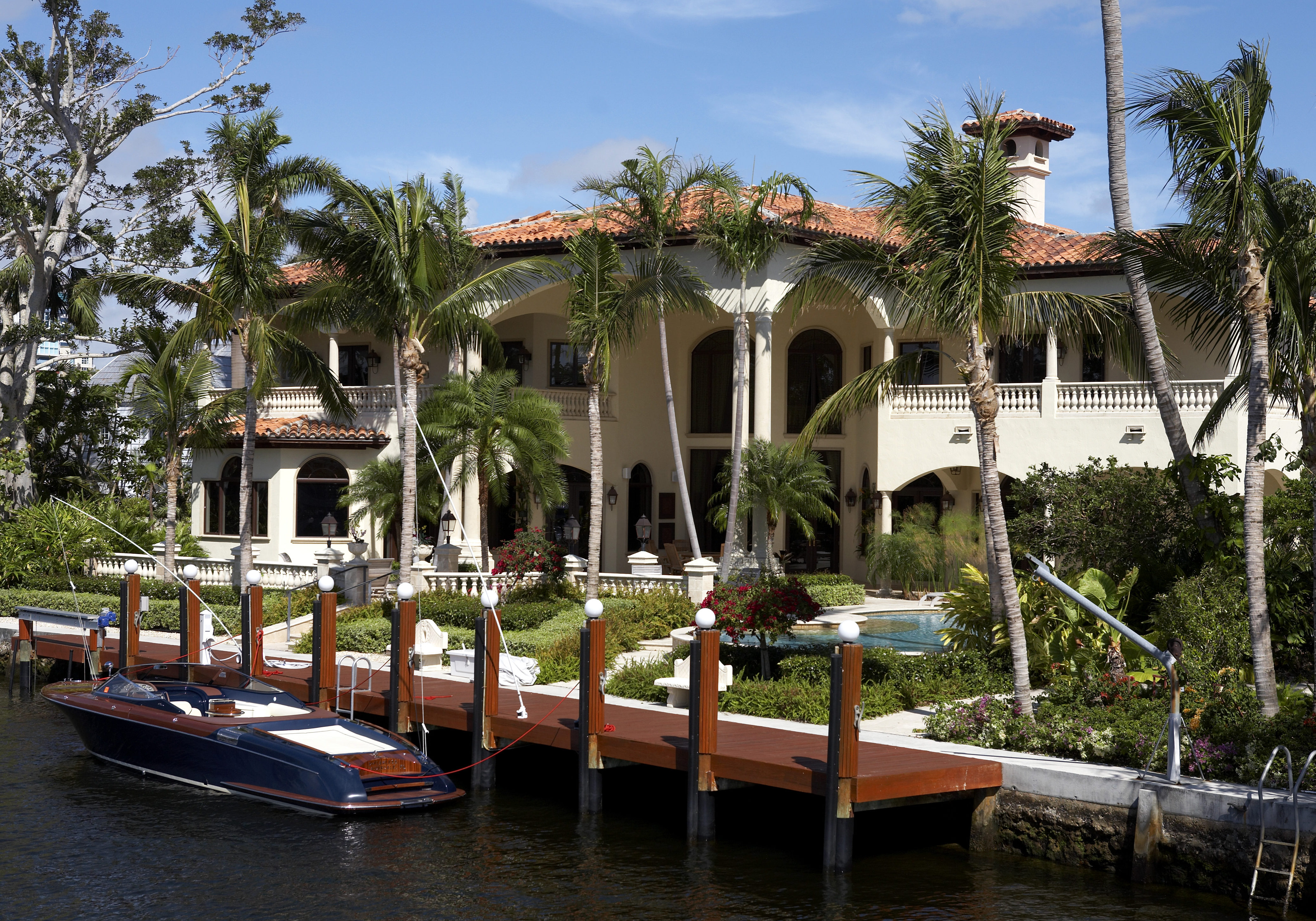 Luxury house on millionaires row new river, known as the isles fort Lauderdale florida America usa