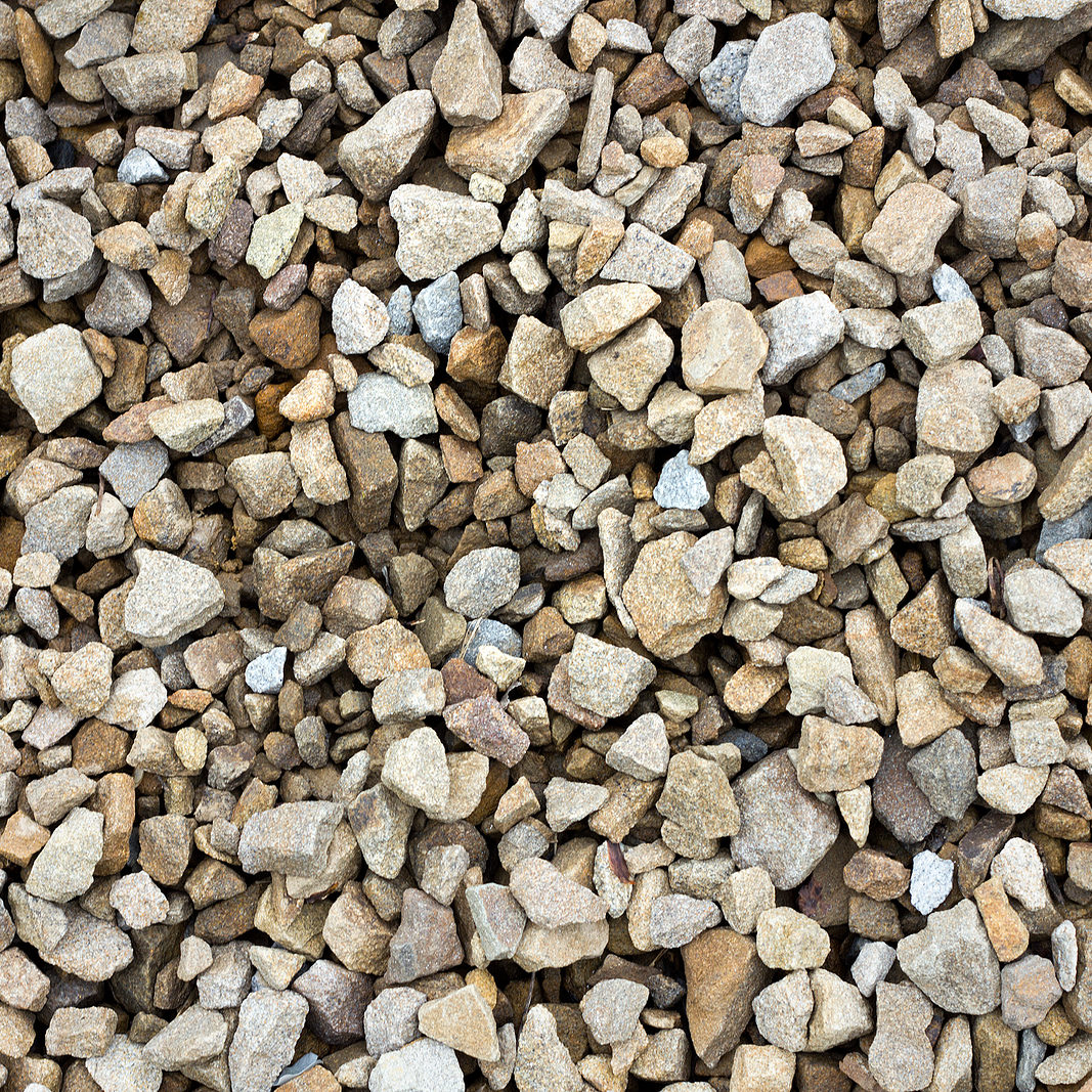 texture of colored crushed stone. Large crushed stone.